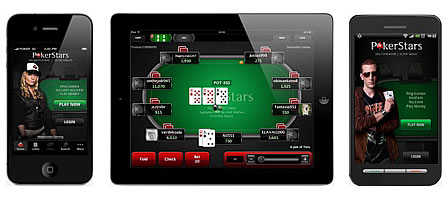 Mobile Poker on smartphone and tablet
