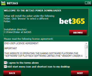 Agree To Bet365 Poker License Agreement