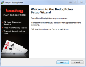 Bodog Poker Installation