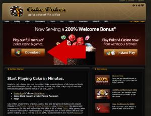 Cake Poker Website Screenshot