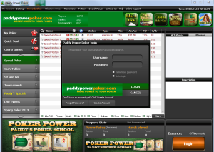 Paddy Power Poker Room Screenshot