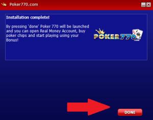Launch Poker770 Client