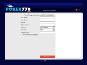 Poker770 Registration Form