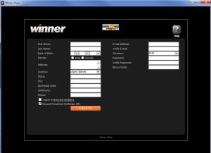Winner Poker Sign Up Form